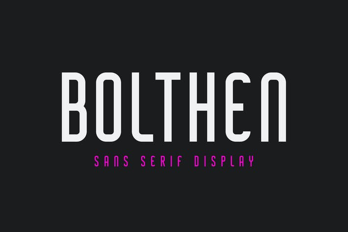 Thumbnail for Bolthen - Sans Serif Display Typeface