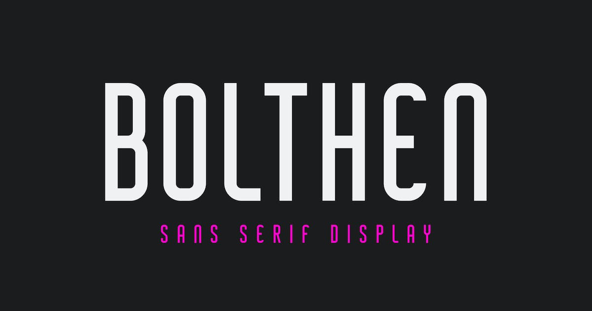 Download Bolthen - Sans Serif Display Typeface by Blankids