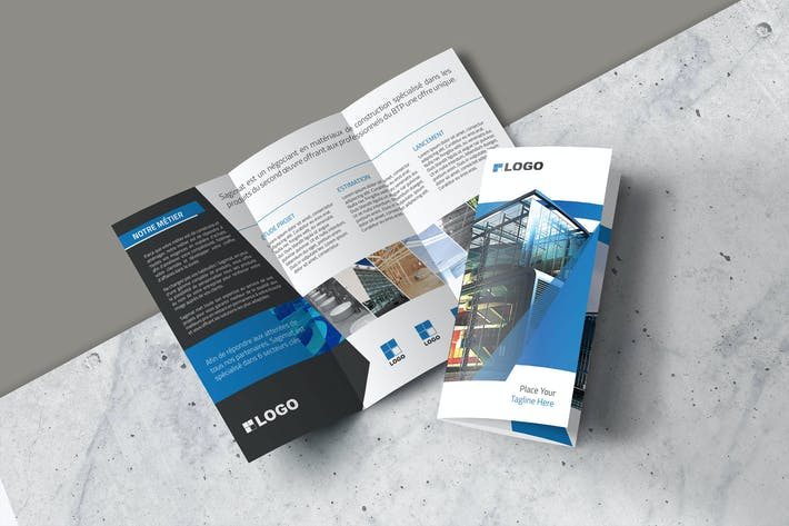 Thumbnail for Trifold Brochure Construction