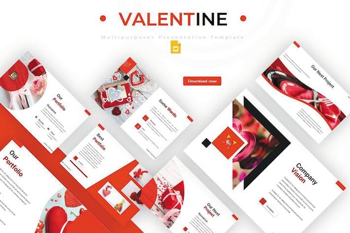 Thumbnail for Valentine - Google Slides Template