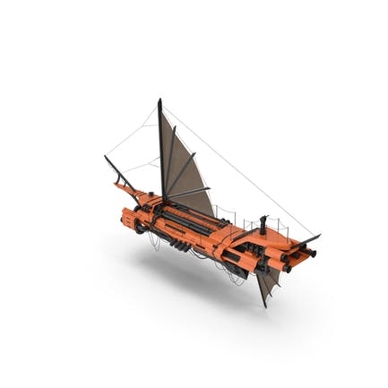 Flying Ship Orange