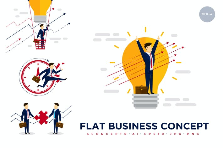 Thumbnail for Business Concept Vector Illustration Set 4