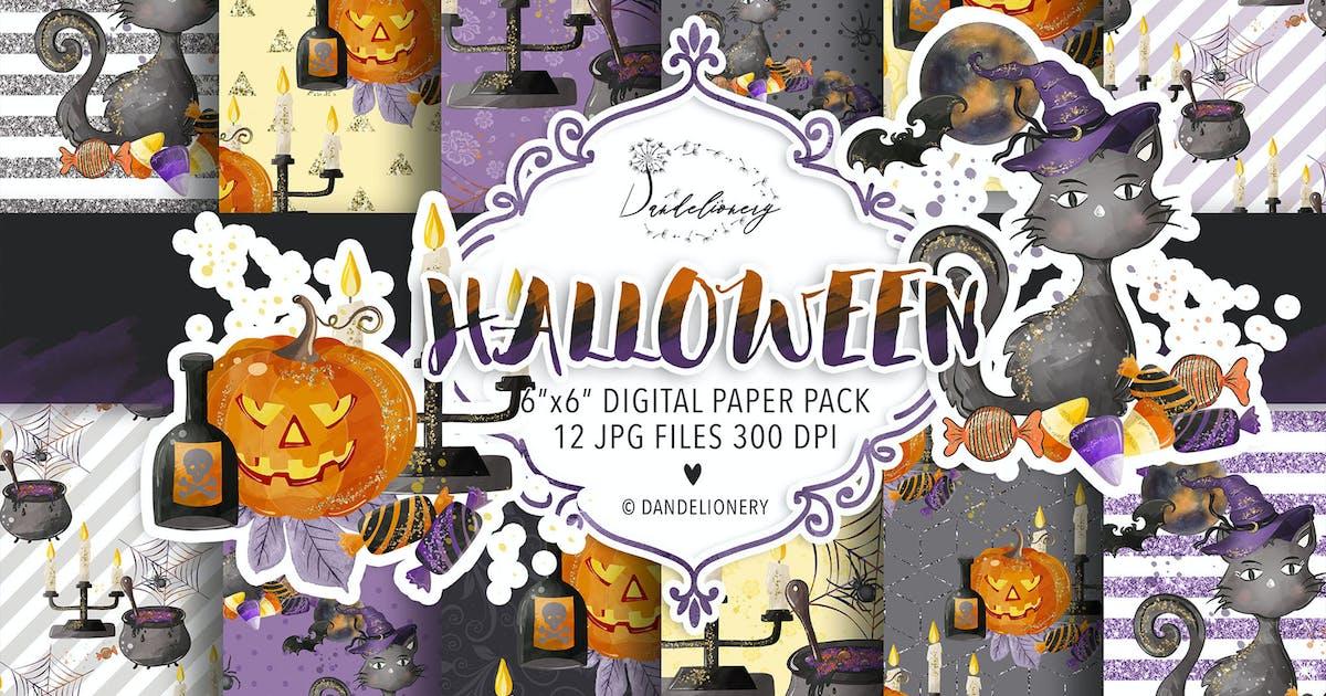 Download Halloween digital paper pack by burlapandlace