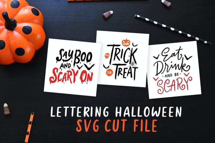Thumbnail for Lettering Halloween SVG Cut File