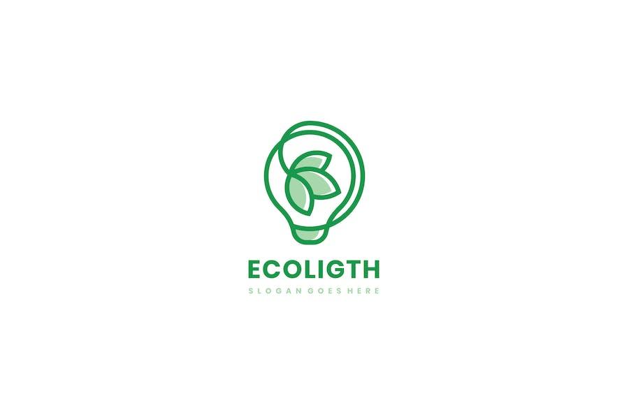 Eco Light Bulb Logo
