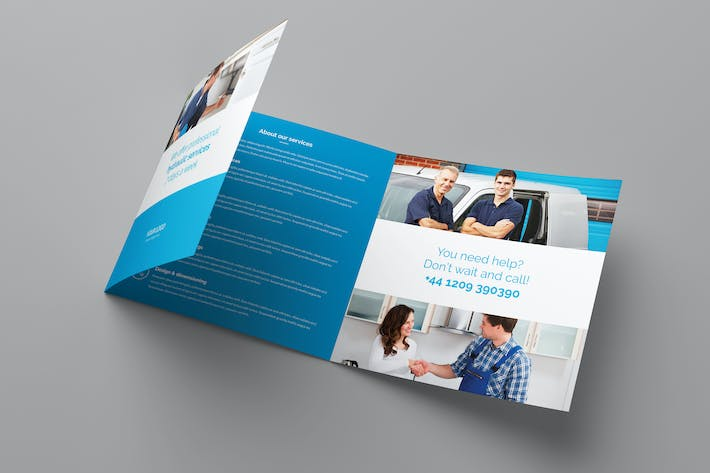 Thumbnail for Brochure – Plumber Tri-Fold Square