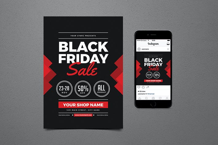 Thumbnail for Black Friday Flyer+ Instagram Post