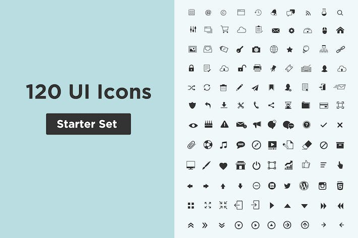 Thumbnail for 120 UI Icon Starter Set