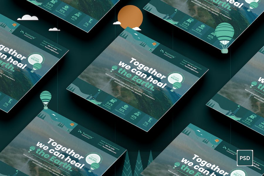 Environmental Square Flyer PSD Template