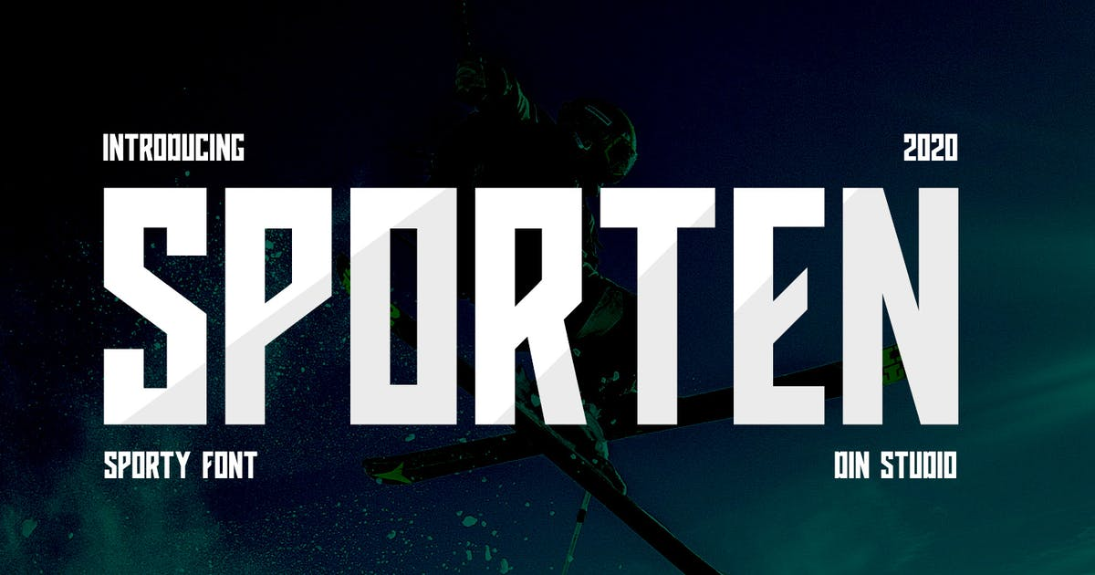 Download Sporten-Classic Sport Font by Din-Studio