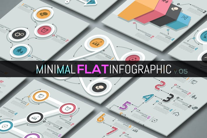 Thumbnail for Minimale flache Infografiken v.05