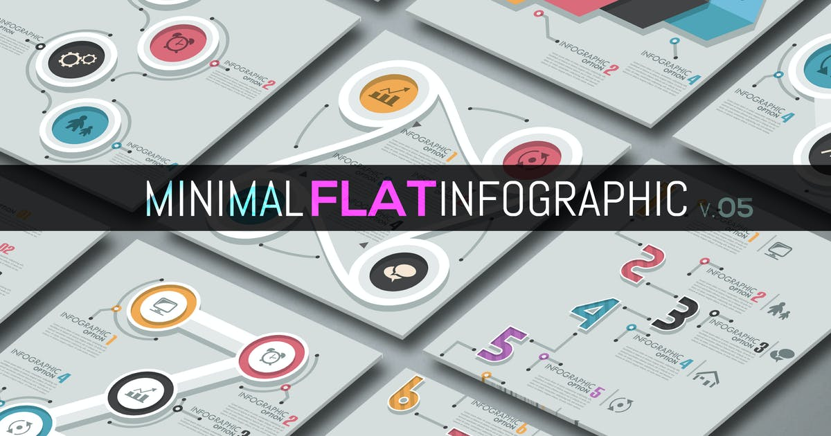 Download Minimal Flat Infographics v.05 by Andrew_Kras