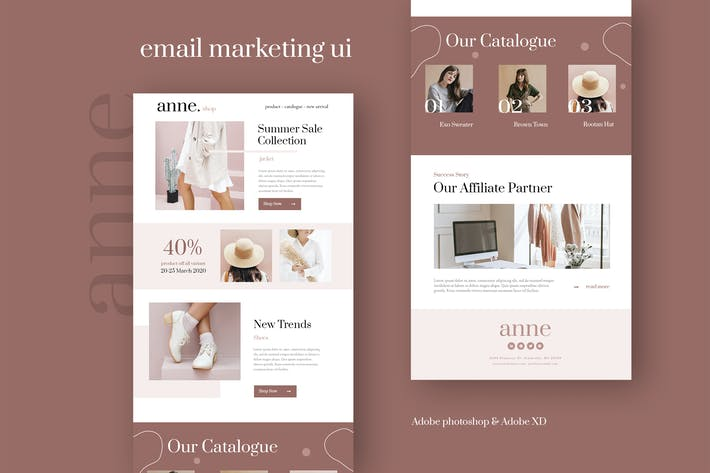 Thumbnail for Anne - Fashion Email Newsletter UI Template