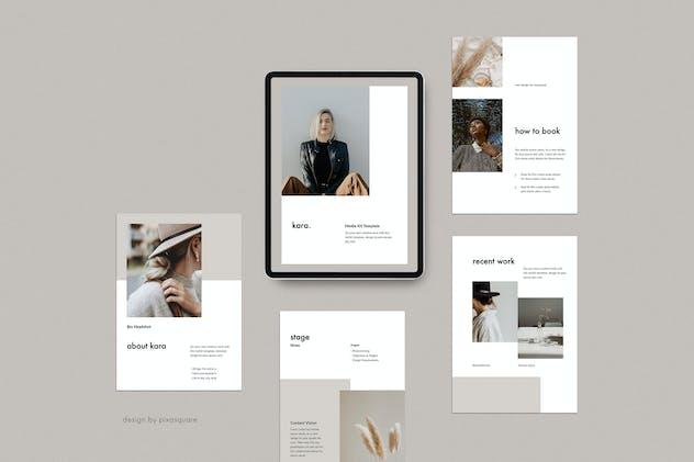 KARA - A4 Vertical Keynote Media Kit Template