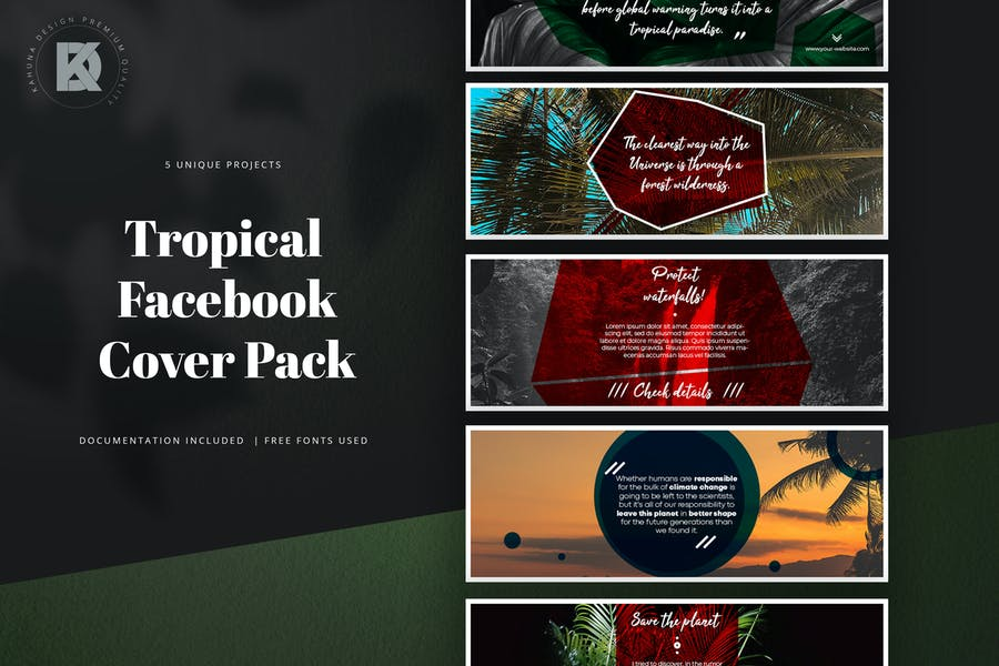 Tropical Facebook Cover Pack