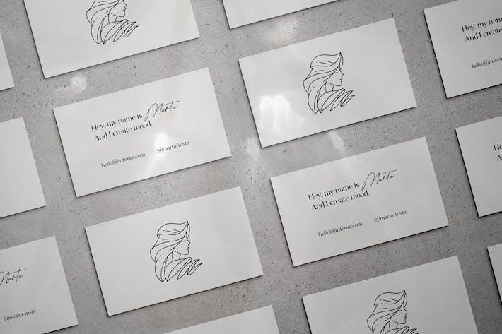 Thumbnail for Marta Business Card Mockup Scenes