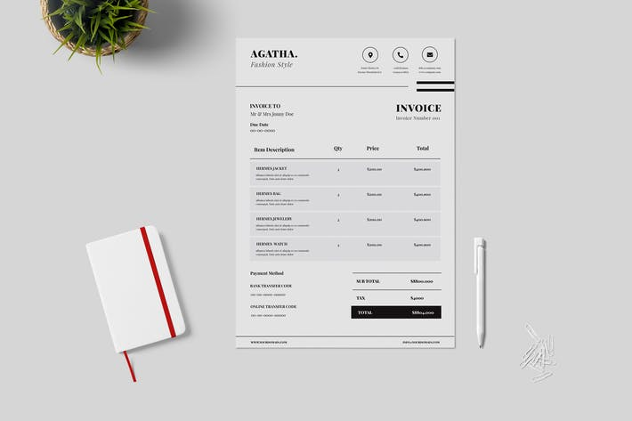 Thumbnail for Minimal Clean Invoice