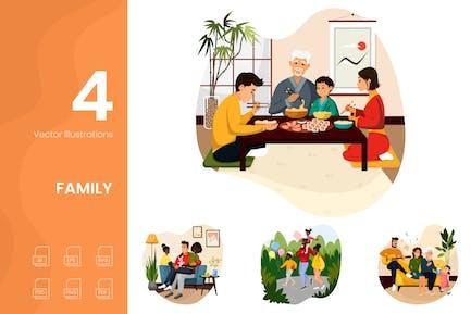 Illustrationen für Familien