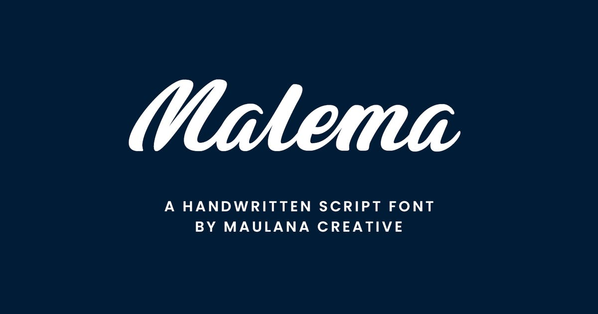 Download Malema Handwritten Script Font by maulanacreative