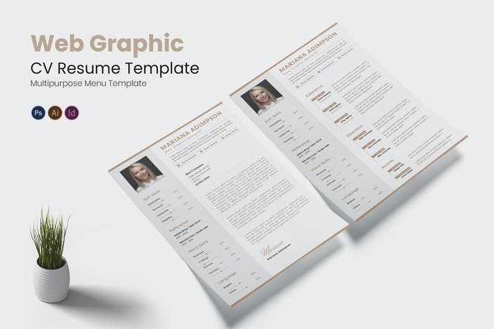 Thumbnail for Web Graphic CV Resume