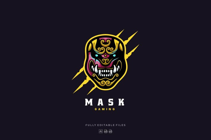 Thumbnail for Japanese Mask Sports and E-sports Style Logo