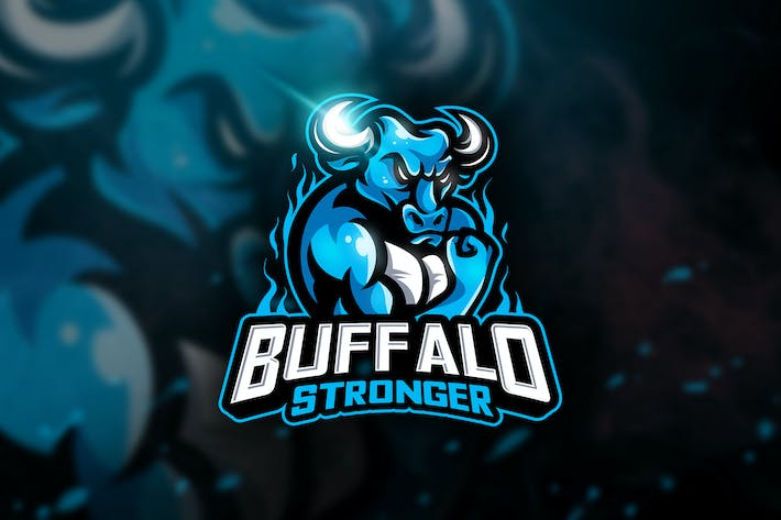 Thumbnail for Buffalo Stronger - Mascot & Esport Logo