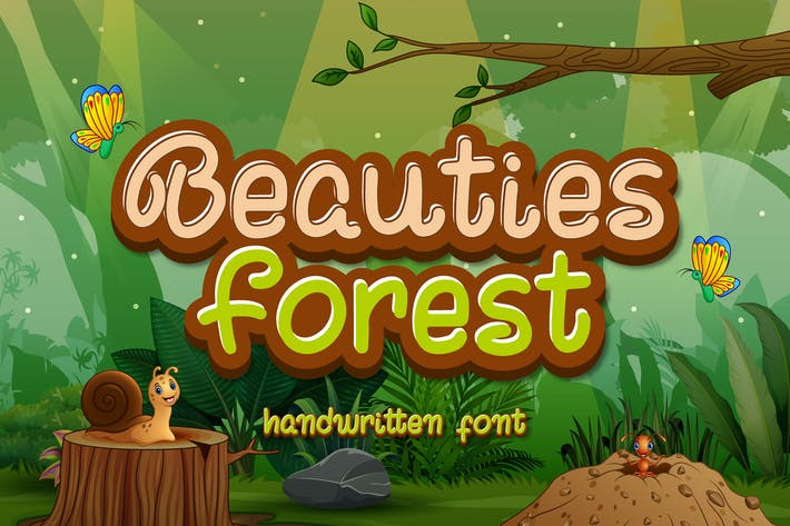 Beauties Forest - Lindo Display Font