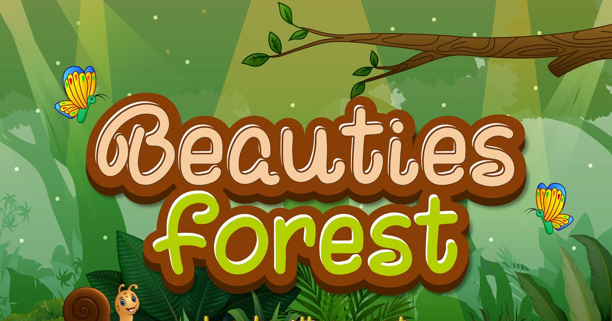 Download Beauties Forest - Cute Display Font by axelartstudio