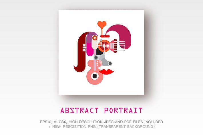 Thumbnail for Abstract Portrait vector illustration