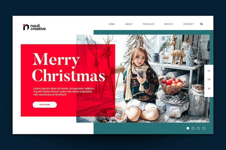Merry Christmas Web Landing Page AI and PSD Vol.3