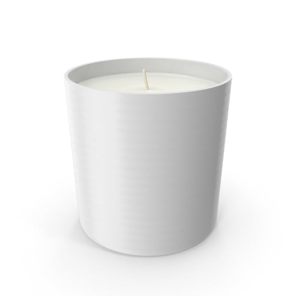 Single Wick Scented Candles  White