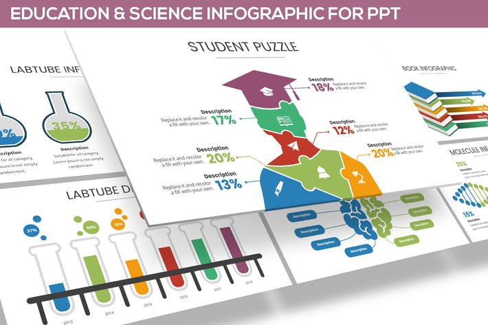 Thumbnail for Education & Science Infographic for Powerpoint