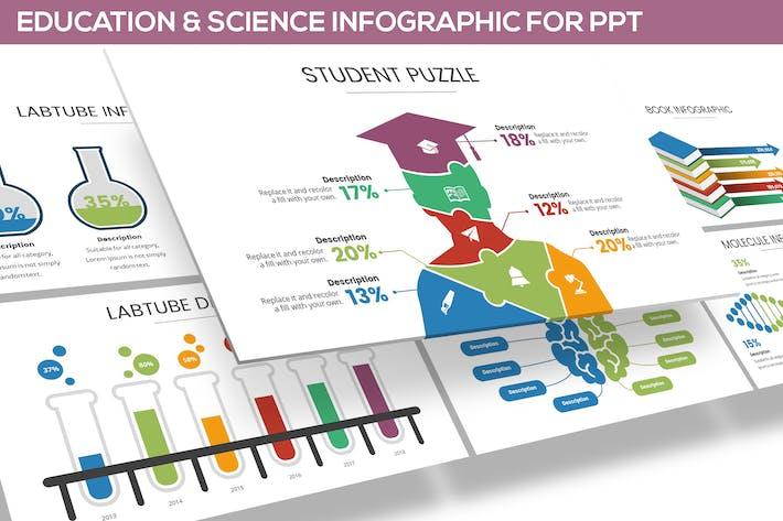 Thumbnail for Образование и наука Инфографика для Powerpoint