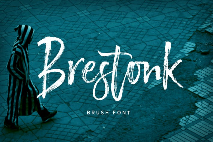 Thumbnail for Brestonk Brush Font