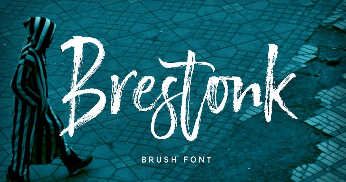 Download Brestonk Brush Font by dhanstudio