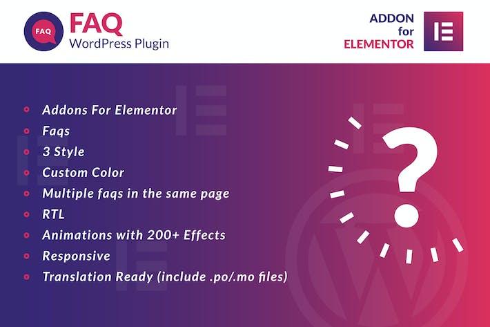 Thumbnail for FAQ pour Elementor WordPress Plugiciels