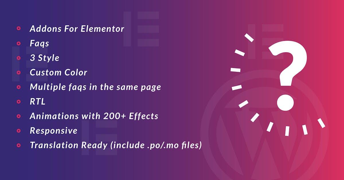 Download Faq for Elementor WordPress Plugin by ad-theme