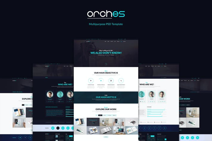 Thumbnail for Orches – Multipurpose PSD Template