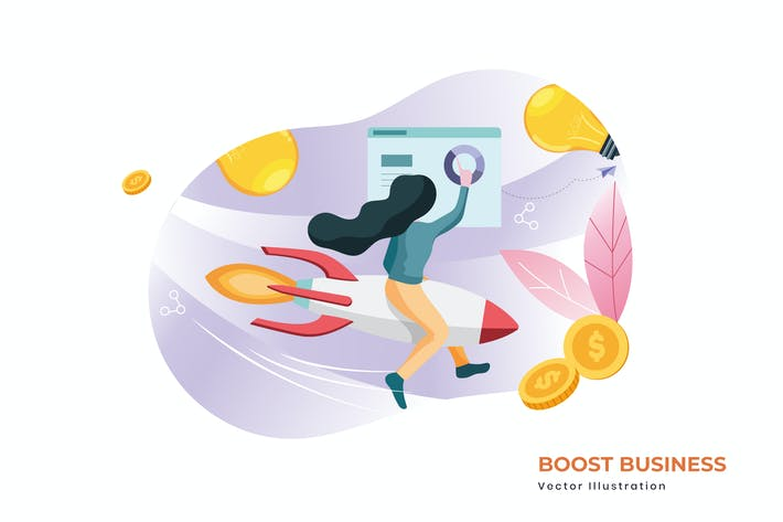 Thumbnail for Boost business vector illustration
