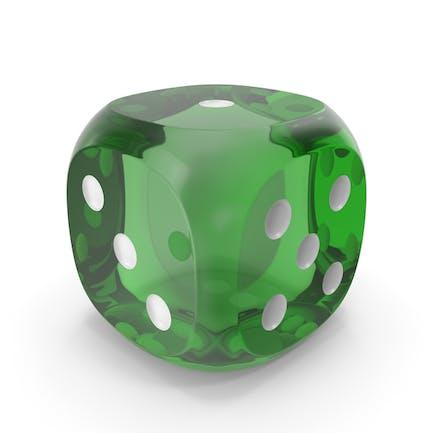 Dice Transparent Green White