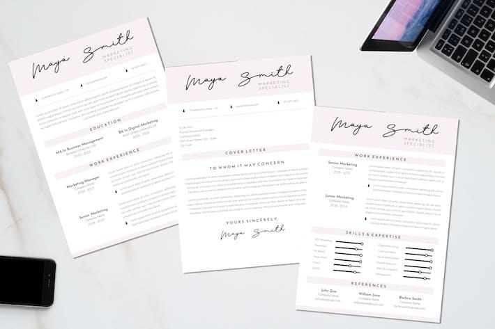 Thumbnail for Marketing CV Resume Template