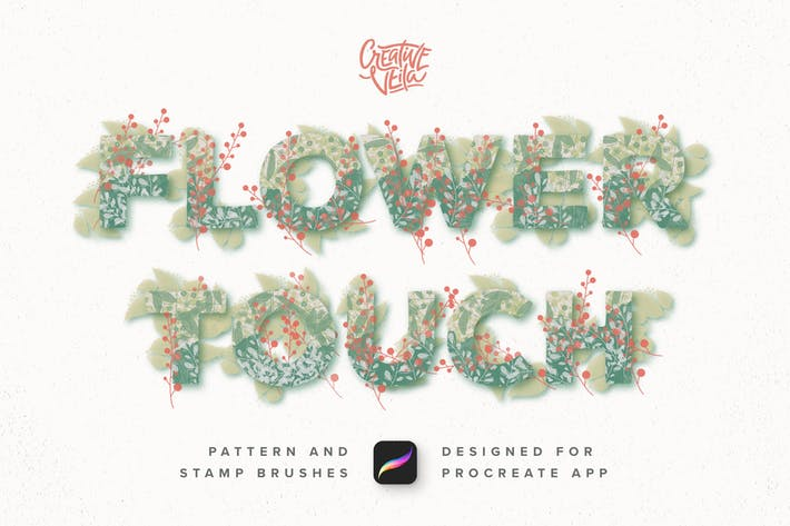 Cover Image For Flower Touch Procreate Brushes