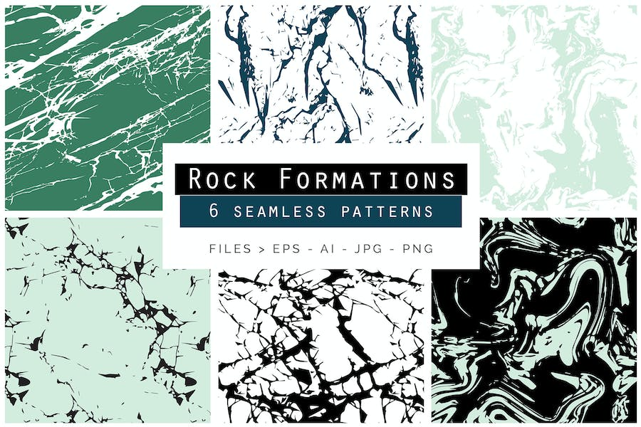 Rock Formations Seamless Patterns