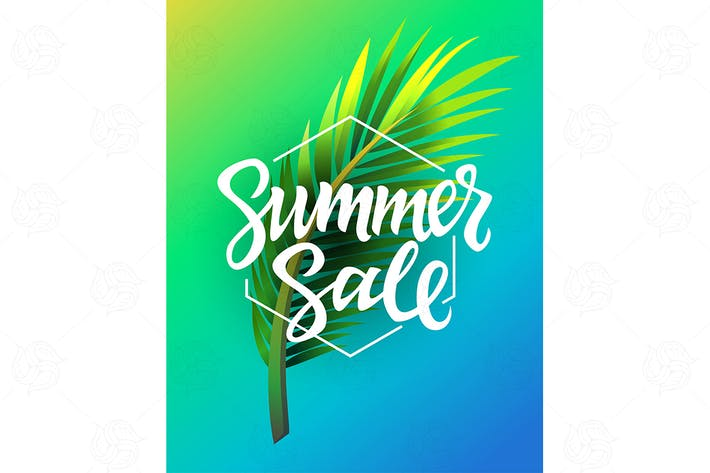 Thumbnail for Summer Sale - modern vector leaflet