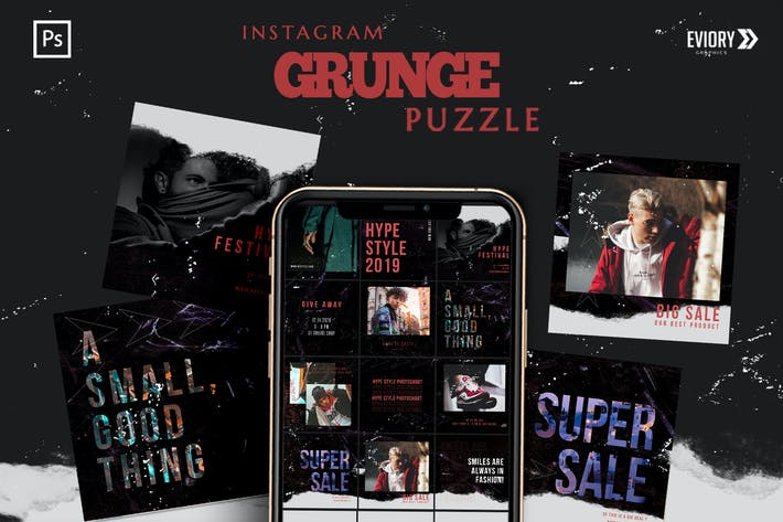 Thumbnail for Grunge - Instagram PUZZLE