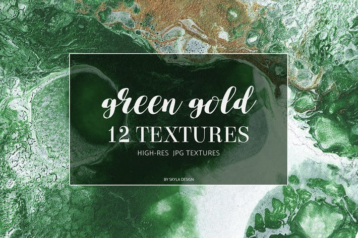 Thumbnail for Green gold texture backgrounds