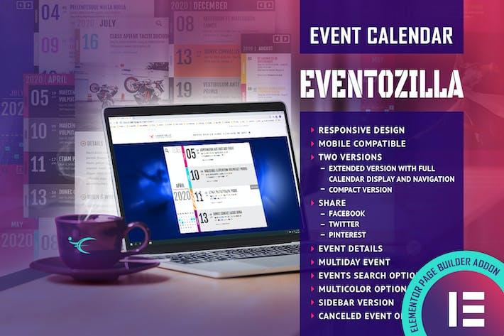 Thumbnail for EventoZilla Event Calendar Elementor Widget Addon