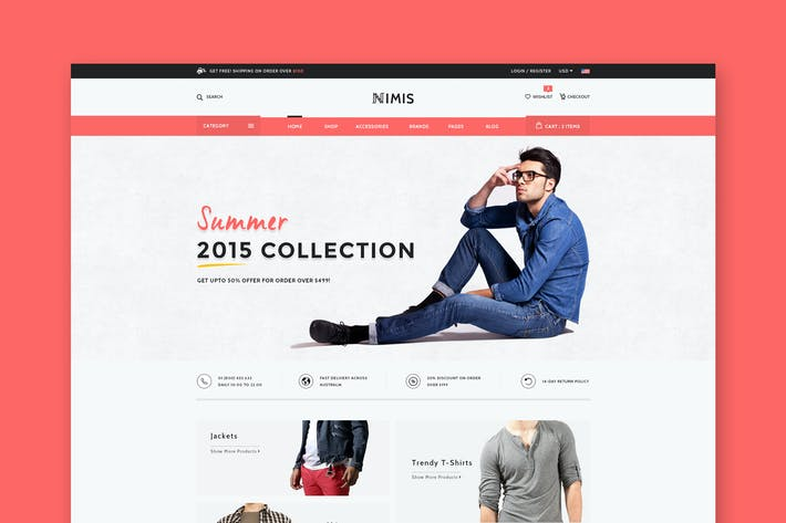 Thumbnail for Nimis - eCommerce Shop HTML Template