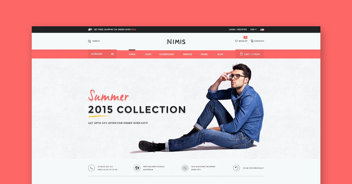 Download Nimis - eCommerce Shop HTML Template by WPmines