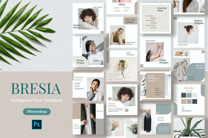 Cover Image For Bresia - Instagram Post Template